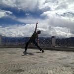 Urlaubsfleiger Yoga Indien